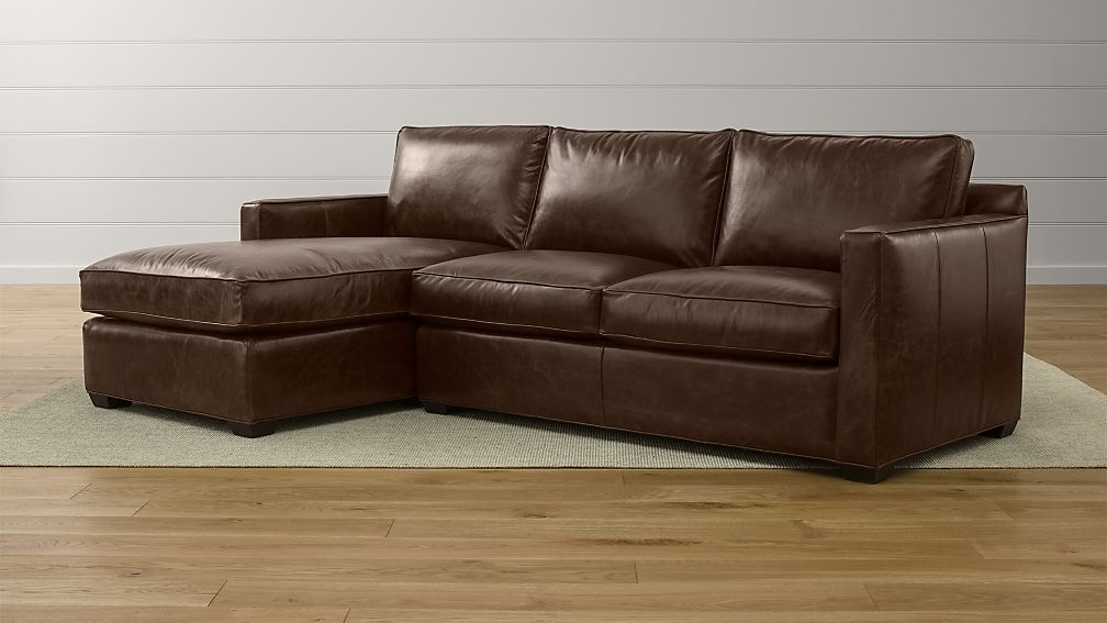 Davis 2 Piece Leather Sectional Crate and Barrel