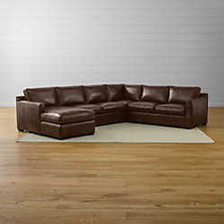 Davis Leather 2 Piece Sectional Sofa Crate And Barrel