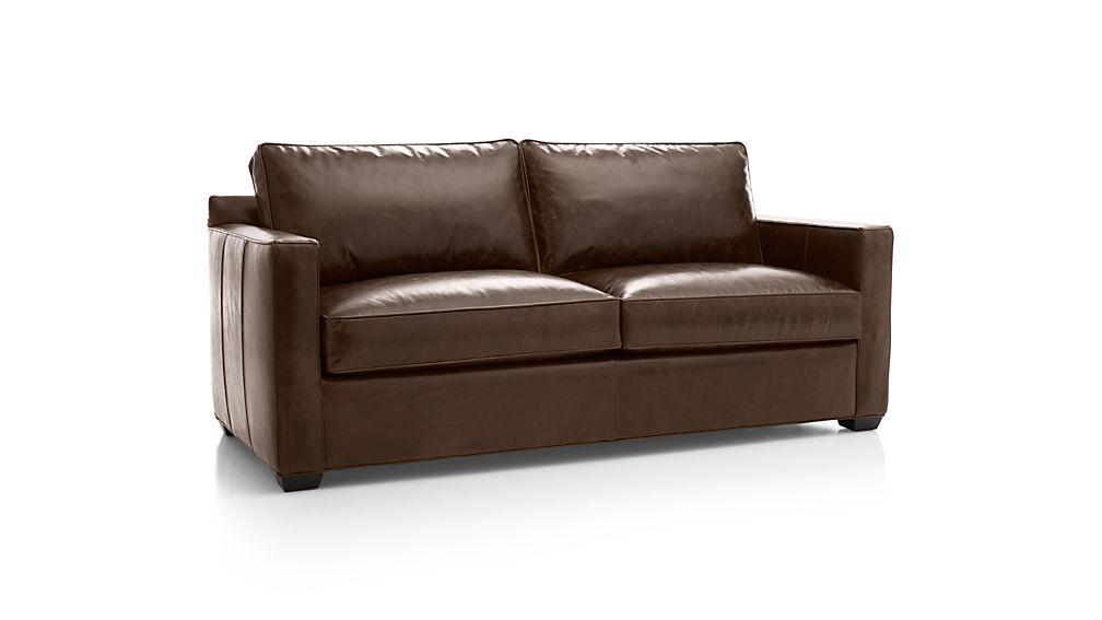 Davis Leather Right Arm Full Sleeper Sofa