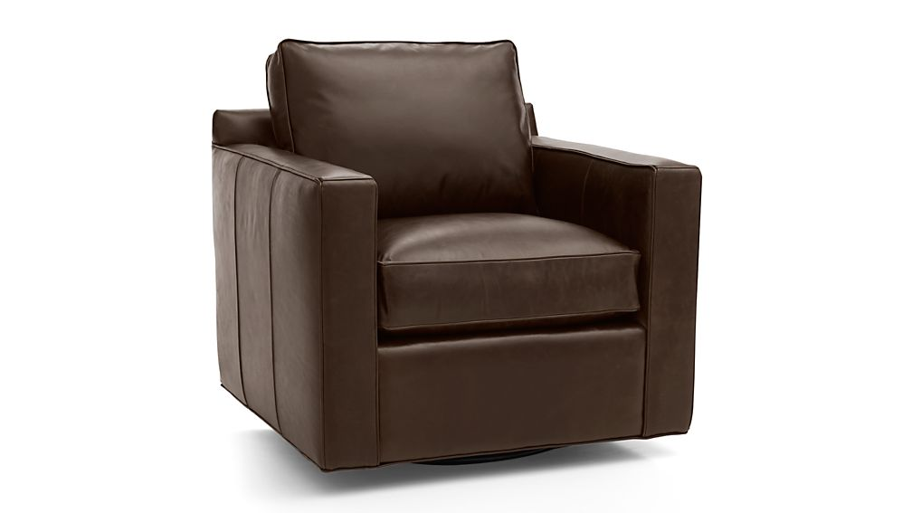 Awesome Davis Leather Swivel Chair Reviews Crate And Barrel Ibusinesslaw Wood Chair Design Ideas Ibusinesslaworg