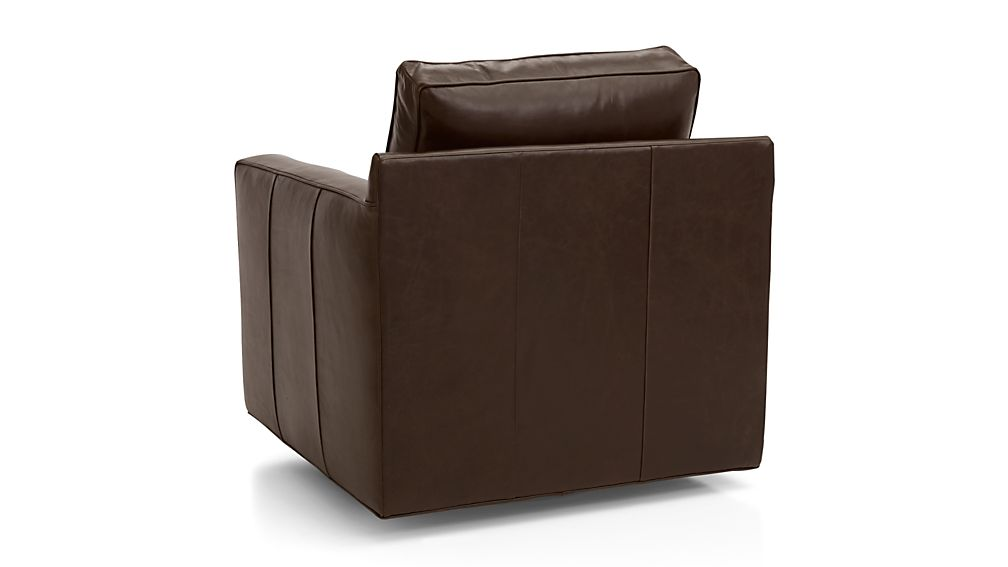 Wondrous Davis Leather Swivel Chair Reviews Crate And Barrel Ibusinesslaw Wood Chair Design Ideas Ibusinesslaworg
