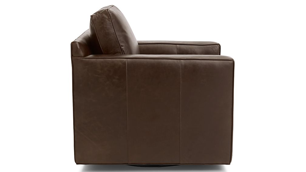Superb Davis Leather Swivel Chair Reviews Crate And Barrel Ibusinesslaw Wood Chair Design Ideas Ibusinesslaworg