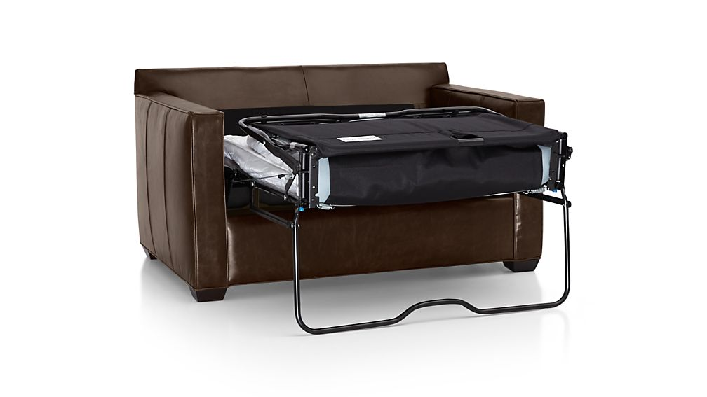 Davis Leather Twin Sleeper Sofa ...