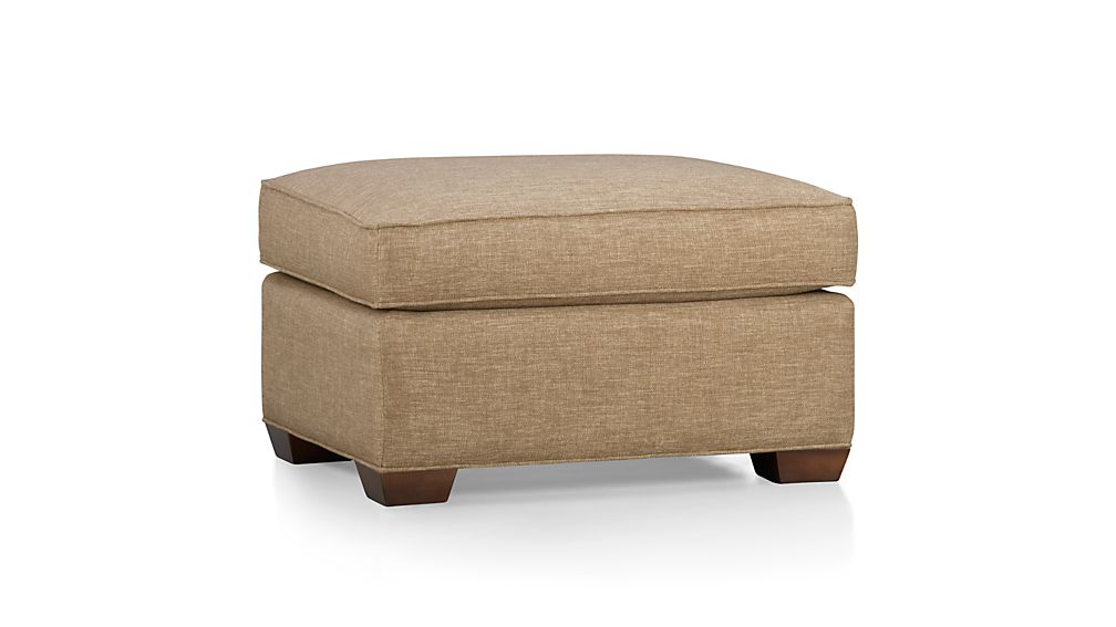Davis ottoman darius mink crate and barrel for Crate and barrel pouf