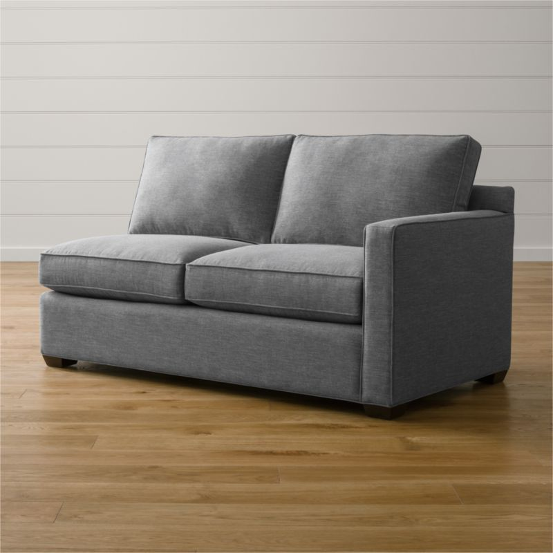 Davis Dark Grey Small Sofa Reviews Crate And Barrel
