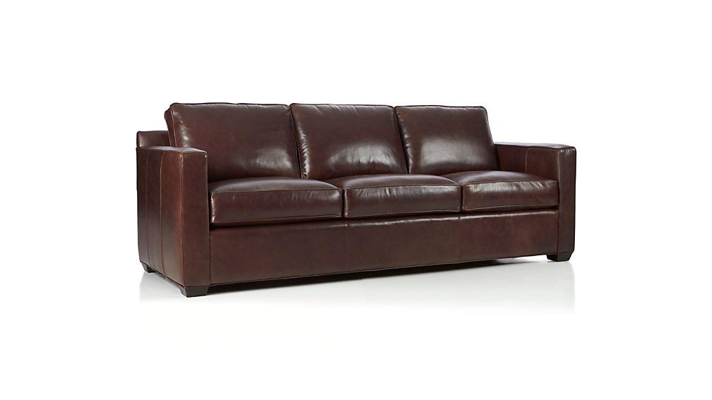 Davis Leather 3-Seat Sofa