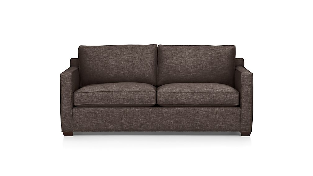 davis queen sleeper sofa with air mattress | crate and barrel