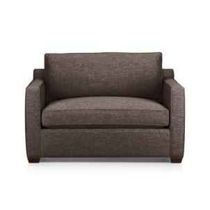 Davis Armless Full Sleeper Sofa Mink