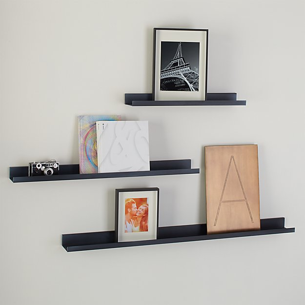Wall Shelf davis zinc wall shelves | crate and barrel