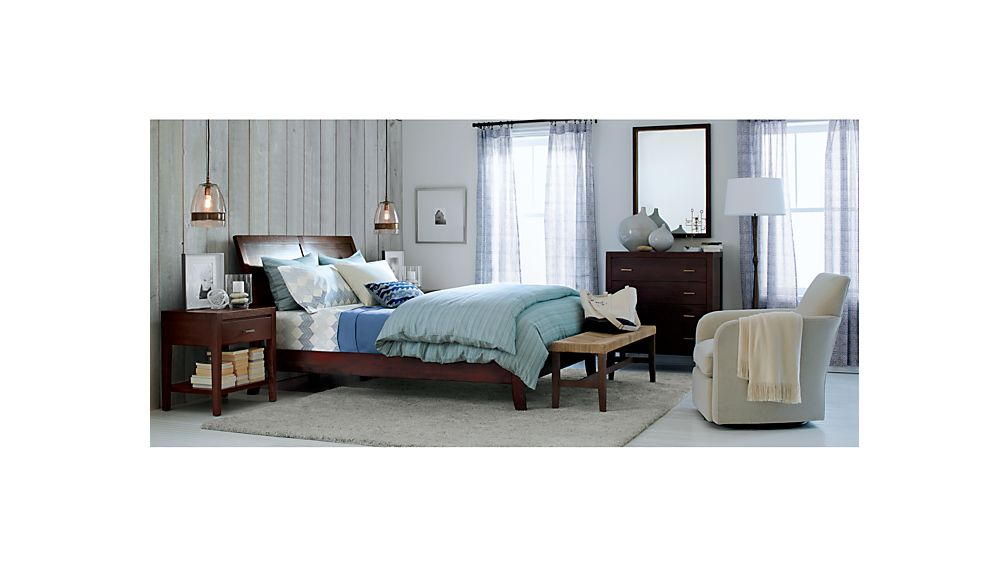 crate and barrel bedroom furniture. DawsonBedroomClctnFNM15  DawsonBedroomCllctnMI12 Dawson Clove Queen Sleigh Bed Reviews Crate and Barrel