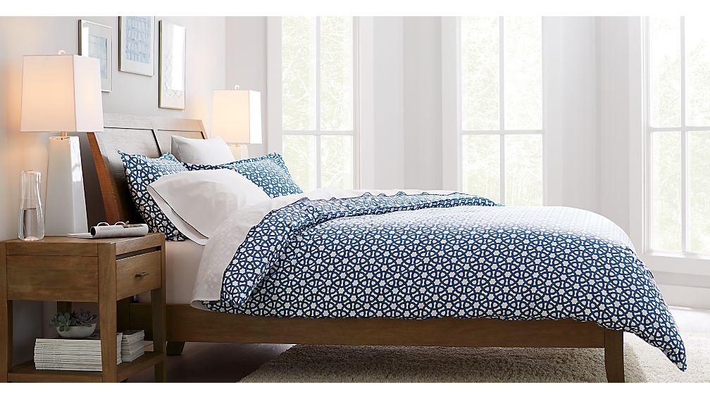 Dawson Grey Wash Queen Sleigh Bed