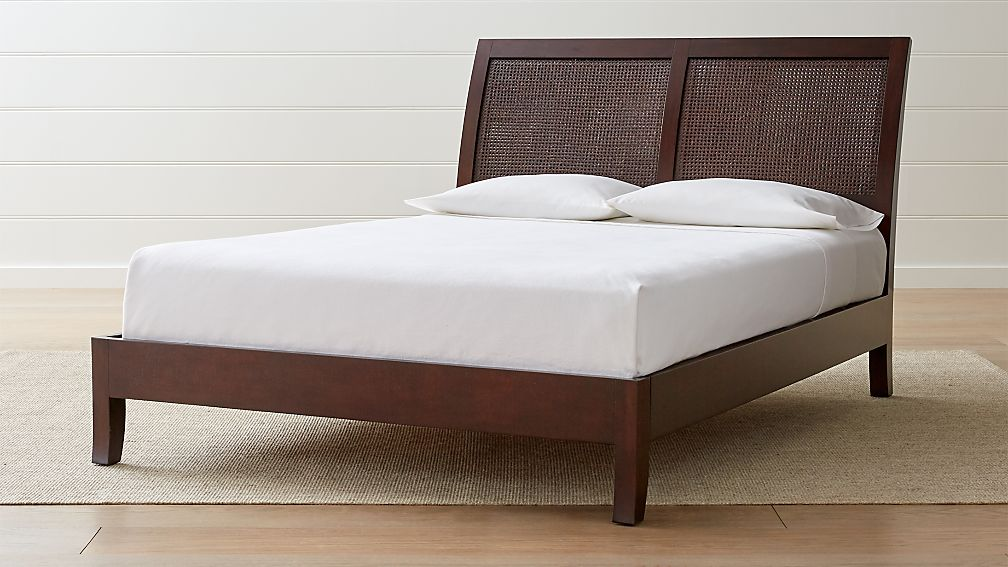 Dawson Clove Cane Queen Bed Reviews Crate And Barrel
