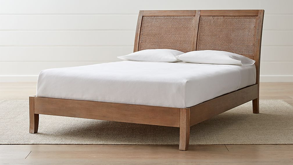 Dawson Grey Wash Cane Bed Crate And Barrel