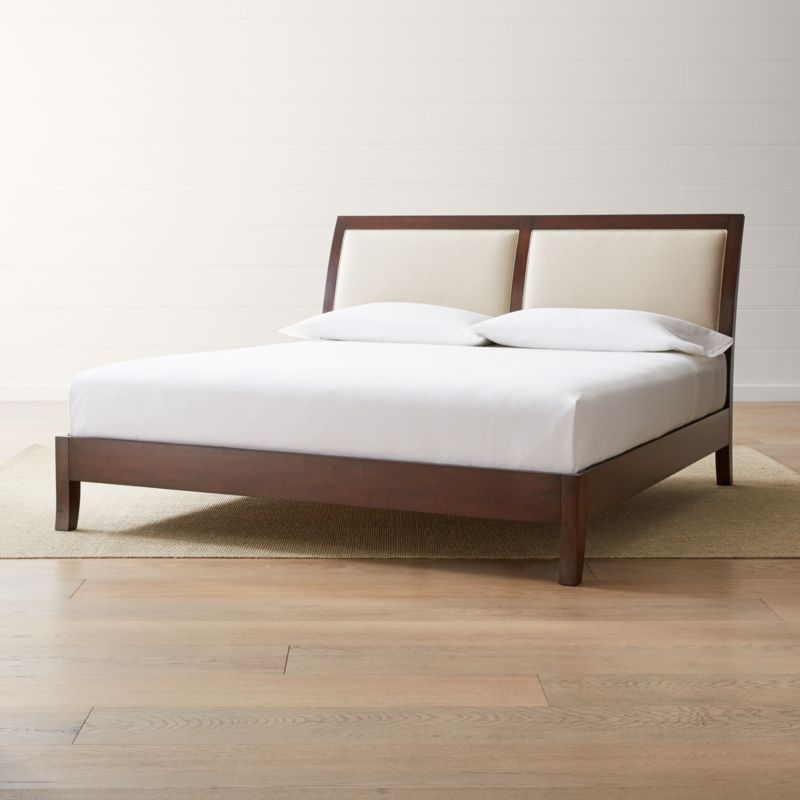 dawson clove upholstered king sleigh bed
