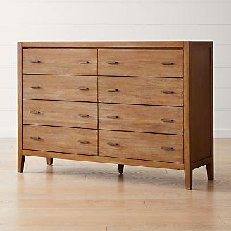 Dawson Grey Wash 8 Drawer Dresser