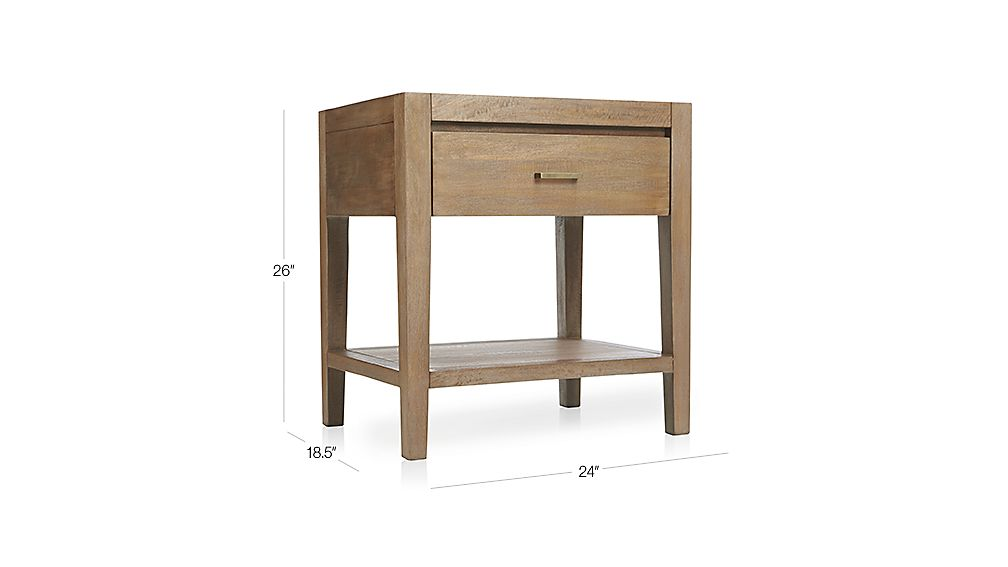Dawson Grey Wash Nightstand Crate And Barrel