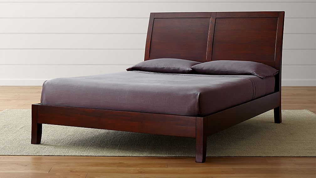 Dawson Clove Sleigh Bed | Crate and Barrel
