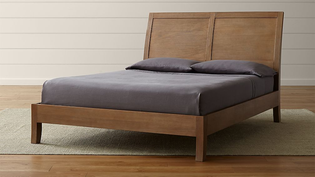 Dawson Grey Wash Sleigh Bed Crate and Barrel