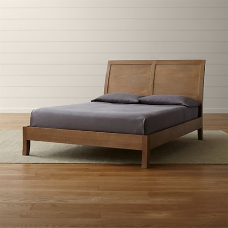 Dawson Grey Wash Sleigh Bed