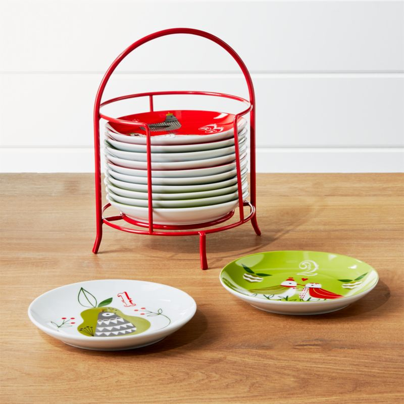 Days Of Christmas Plates With Stand Crate And Barrel