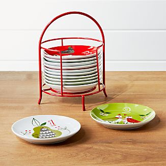 12 Days of Christmas Plates with Stand