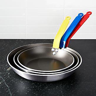 de Buyer ® Set of 3 Nonstick Fry Pans with Colored Handles