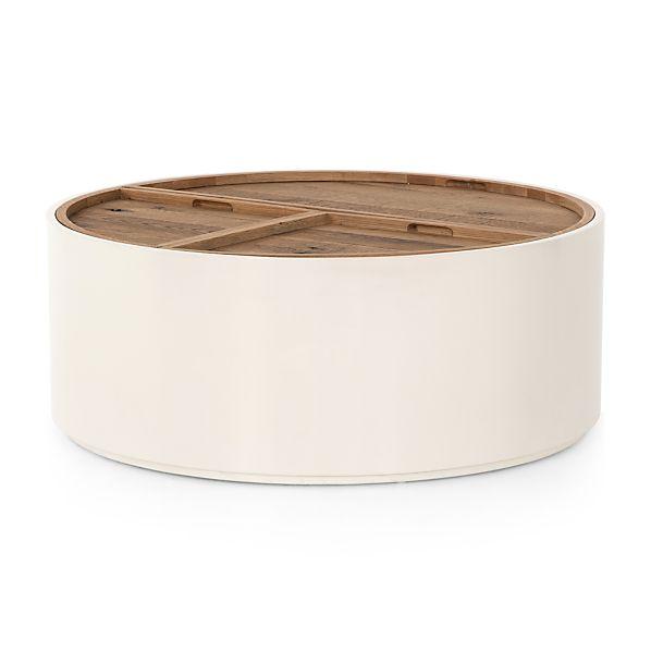 Prime Dean White And Oak Coffee Table Crate And Barrel Machost Co Dining Chair Design Ideas Machostcouk