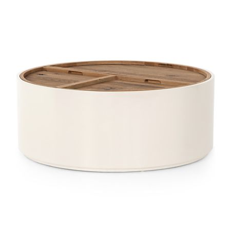 Dean White And Oak Coffee Table Crate Barrel