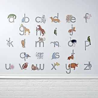 Animal Alphabet Wall Decals
