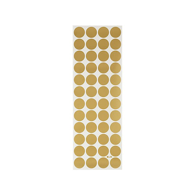 Gold Polka Dot Wall Decals + Reviews   Crate and Barrel