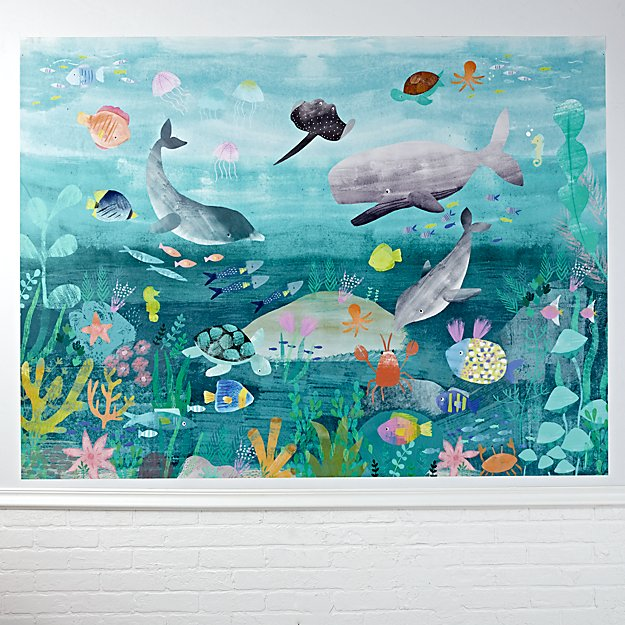 Under The Sea Mural Wall Decal Reviews Crate And Barrel