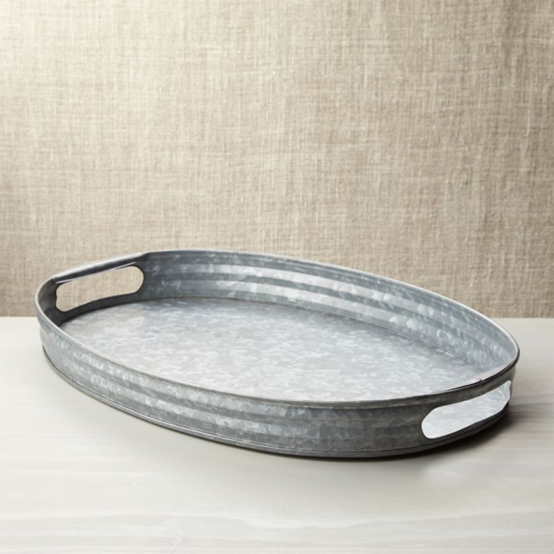 Decker Galvanized Tray Reviews Crate And Barrel