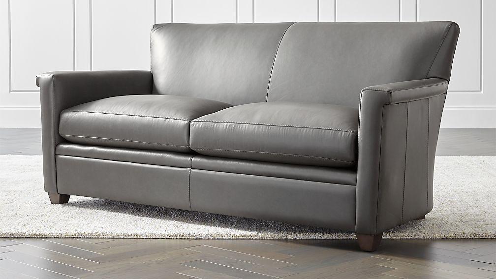 Declan Leather Apartment Sofa - Image 1 of 6