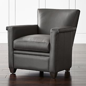 leather chairs crate and barrel