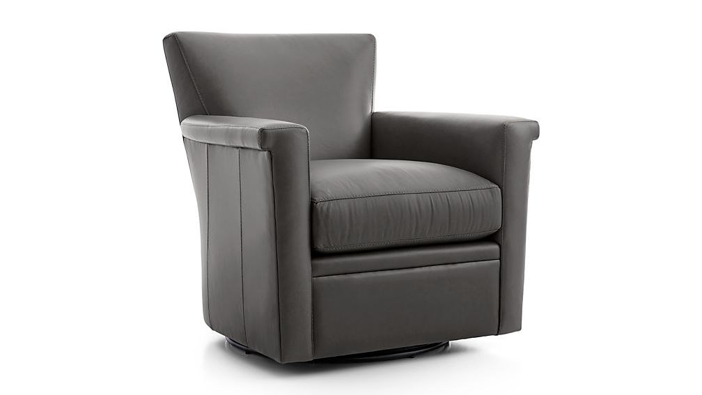 Declan Leather 360 Swivel Chair