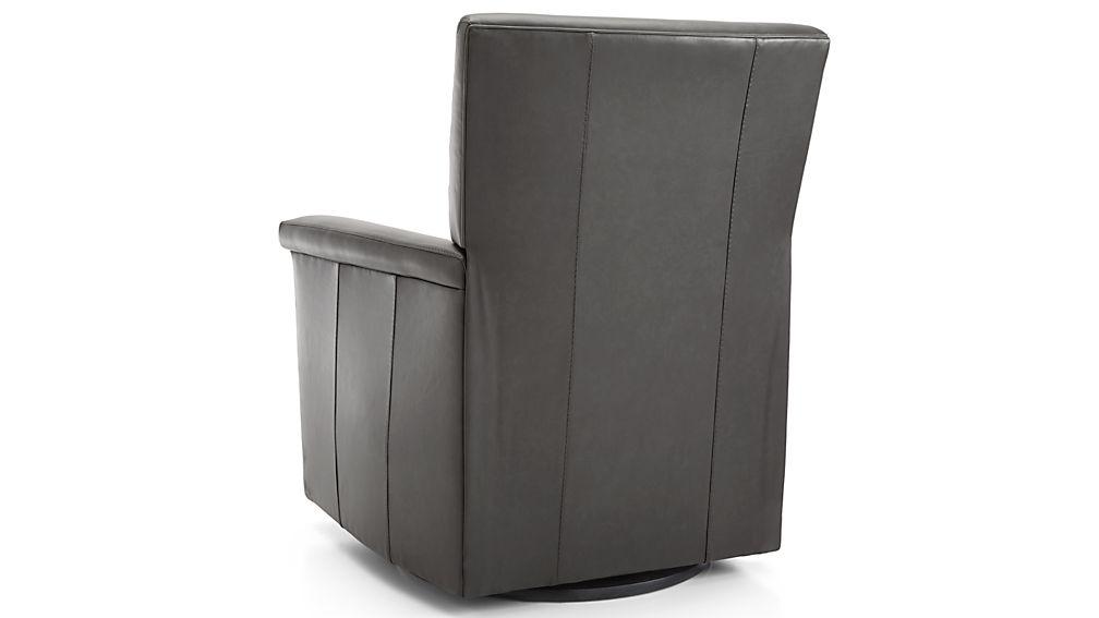 Declan Leather 360 Swivel Recliner