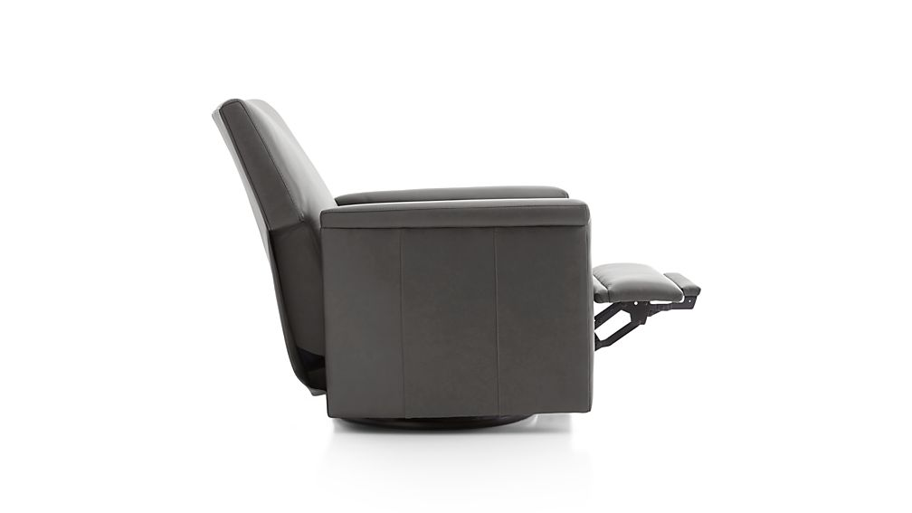 Declan Leather 360 Swivel Recliner