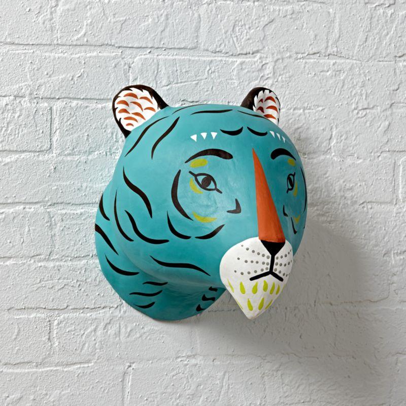 Paper Mache Tiger Head