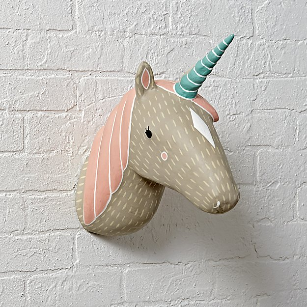 Paper Mache Unicorn Wall Mount Reviews Crate And Barrel