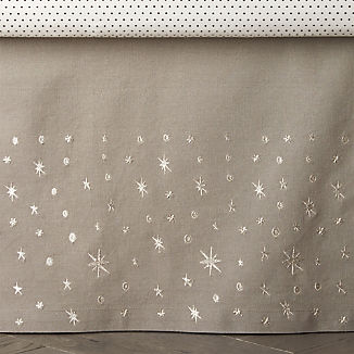 Outer Space Crib Skirt
