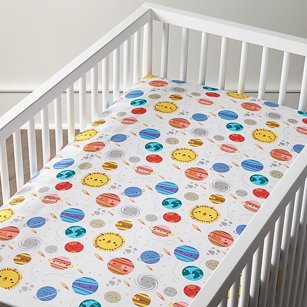 Organic Outer Space Crib Fitted Sheet Reviews Crate