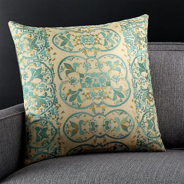"Delia 20"" Pillow with Down-Alternative Insert"