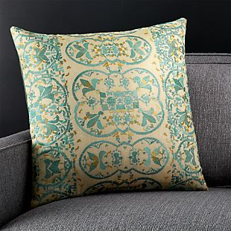 "Delia 20"" Pillow with Down-Alternative Insert"