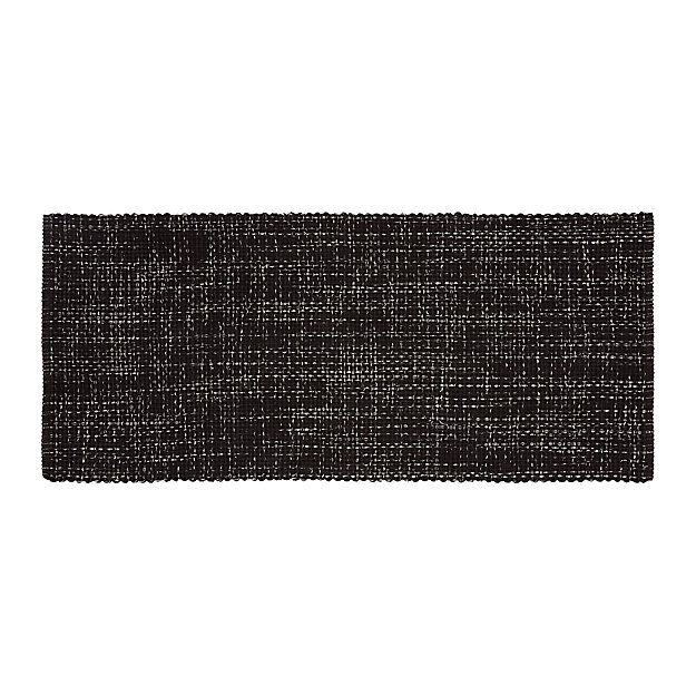 Della Black Cotton Flat Weave Rug Runner 2 5x6 Reviews Crate And Barrel
