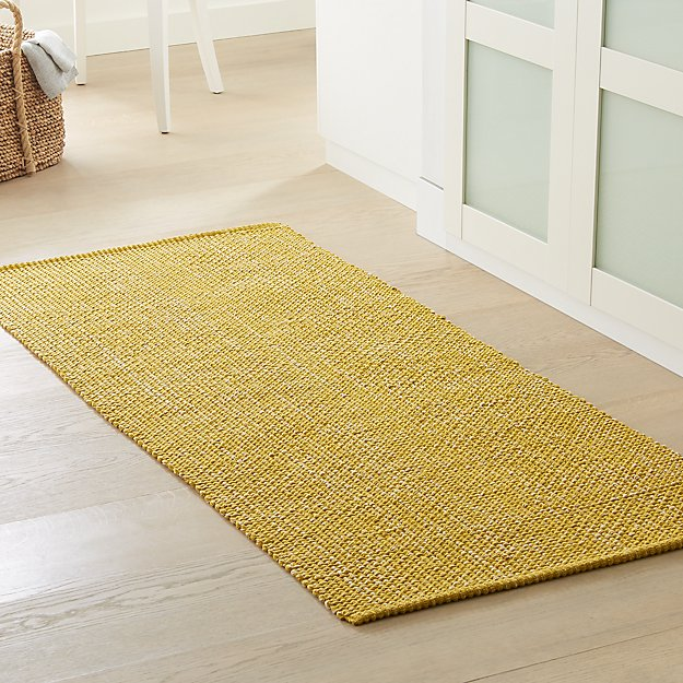 Della Citron Cotton Flat Weave Rug Runner - Image 1 of 3