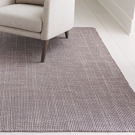 Della Grey Flat Weave Rug Crate And