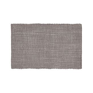grey kitchen rugs coastal bedroom della grey cotton flat weave rug 30x50 kitchen rugs crate and barrel