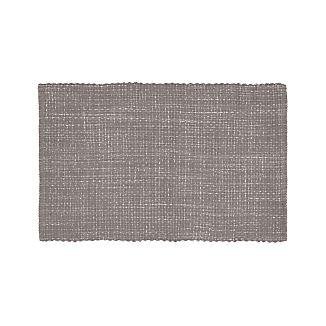 Bon Della Grey Cotton Flat Weave Rug 30x50