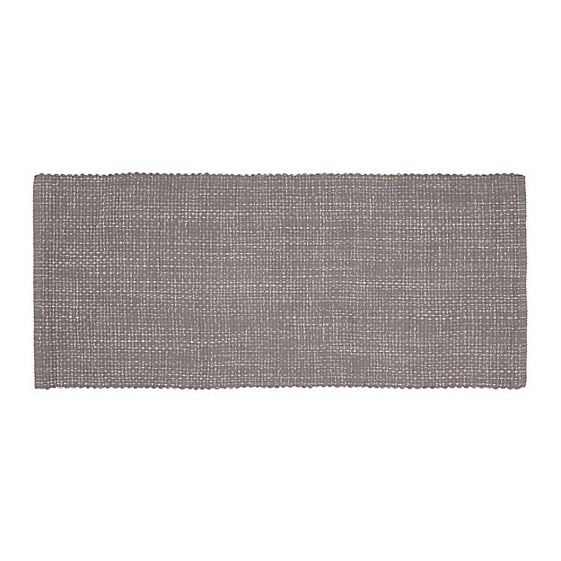 Della Grey Cotton Flat Weave Rug Runner 2 5x6 Reviews Crate And Barrel