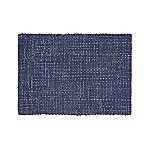 Della Indigo Cotton Flat Weave Rug 2x3
